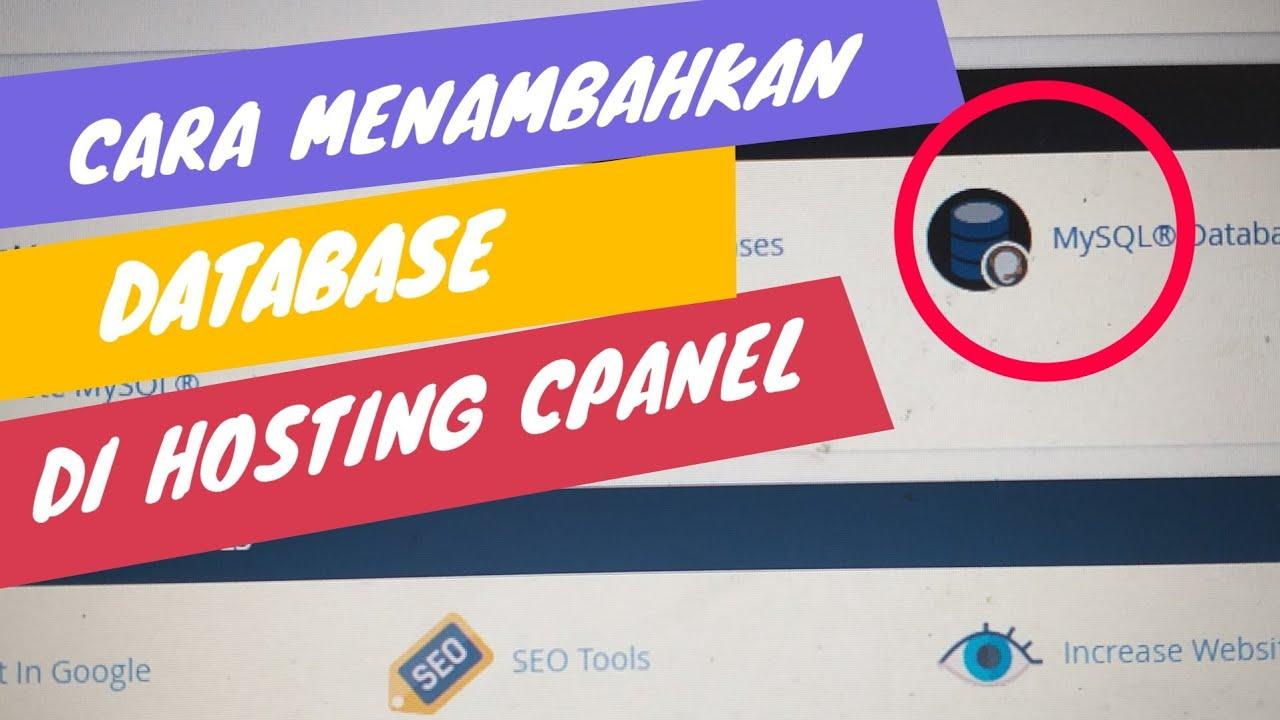 Artikel Tutorial Panduan Cara Membuat dan Koneksi User Nama Password Database MySQL di cPanel