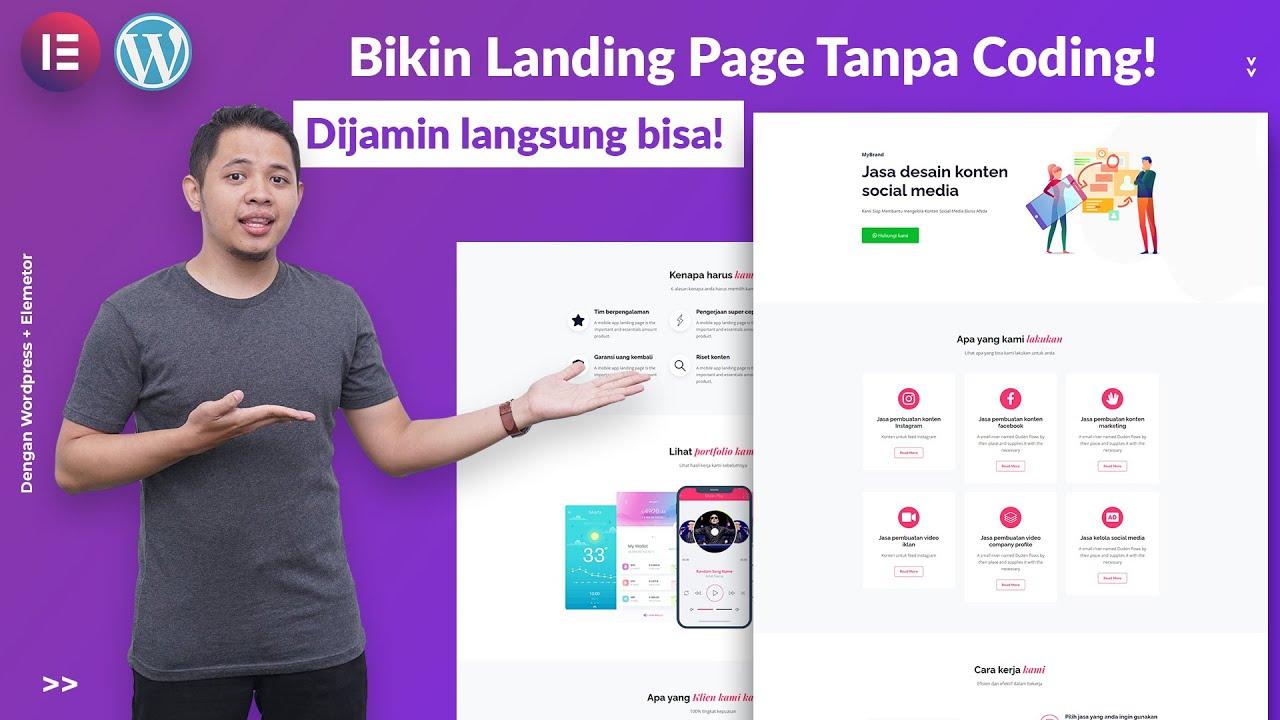 Artikel Tutorial Panduan Cara Membuat LandingPage Dengan Wordpess + Elementor
