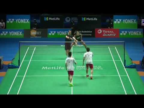 pertandingan paling Seru Gideon/kevin sanjaya (indonesia) vs Con/kol (Denmark) All England
